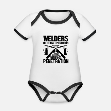 Steel Welders do it - Organic Contrast Baby Bodysuit