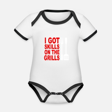 Grill Apron Got skills on the grills apron - Organic Contrast Baby Bodysuit