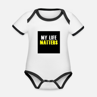 Life Matters My Life Matters - Organic Contrast Baby Bodysuit