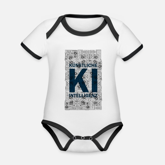 Program Baby Clothes - Artificial Intelligence - Computer Shirt - Organic Contrast Baby Bodysuit white/black