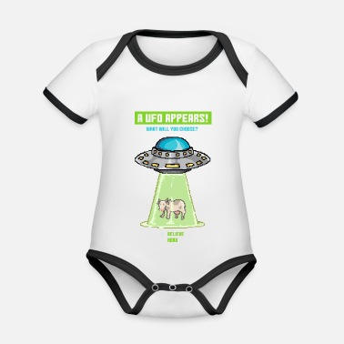 Paradox Cow Ufo Paradox Game - Organic Baby Contrasting Bodysuit