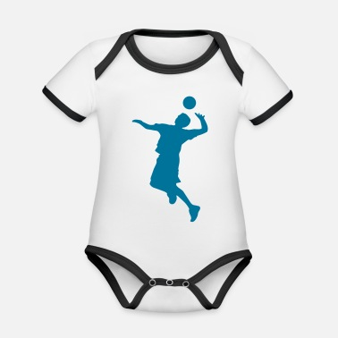Volley Volley Sillhouette - Organic Contrast Baby Bodysuit