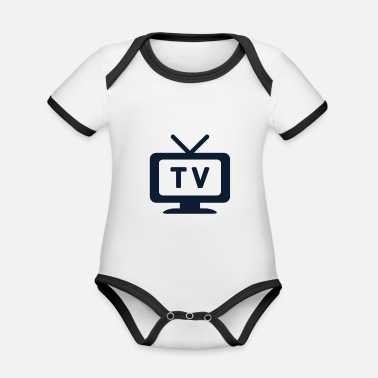 Television Television tv - Organic Baby Contrasting Bodysuit