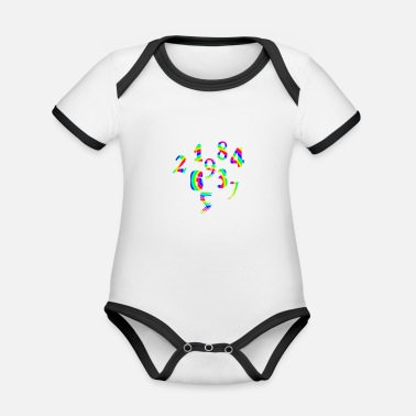 Number Numbers numbers numbers - Organic Contrast Baby Bodysuit