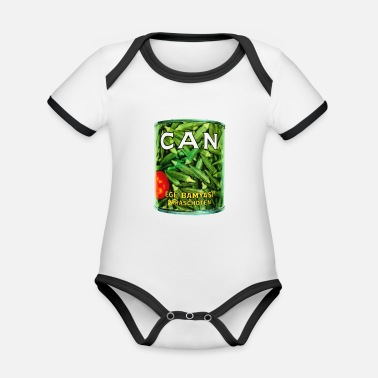 Can Band Logo - Organic Contrast Baby Bodysuit