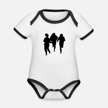 Male Dancer Dancers three male - Organic Contrast Baby Bodysuit