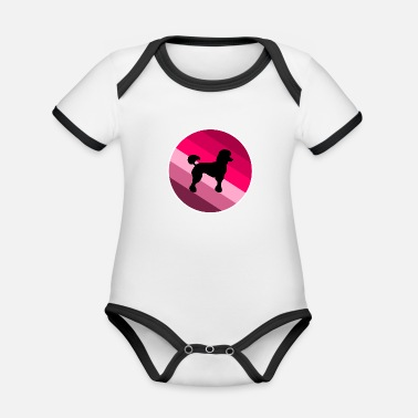 Poodle poodle - Organic Baby Contrasting Bodysuit