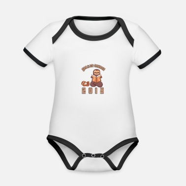 Read Aloud 2019 Sloth reading aloud baby book gift - Organic Contrast Baby Bodysuit