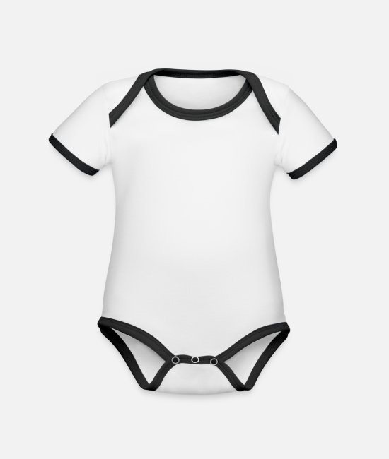 Occupation Baby Bodysuits - A huge oil rig - Organic Contrast Baby Bodysuit white/black