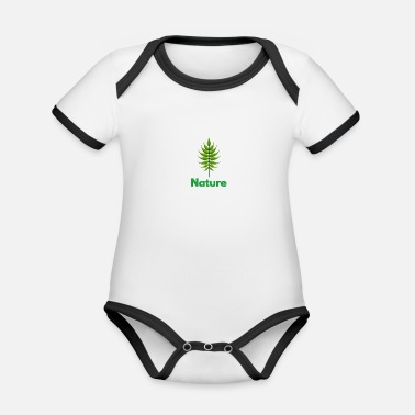 Nature Lovers Nature nature lover - Organic Contrast Baby Bodysuit