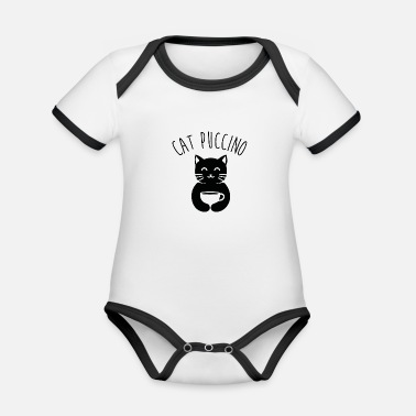 Puccino cat puccino - Organic Contrast Baby Bodysuit