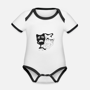 theater masks - Organic Contrast Baby Bodysuit