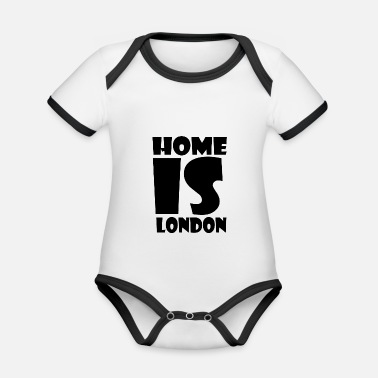 London London - At home is London - Home is London - Organic Contrast Baby Bodysuit