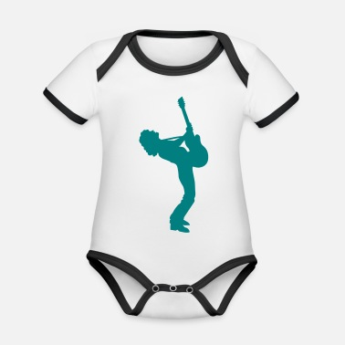 Guitar Player guitar player - Organic Contrast Baby Bodysuit
