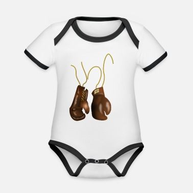 Boxing Gloves Boxing Gloves - Organic Baby Contrasting Bodysuit