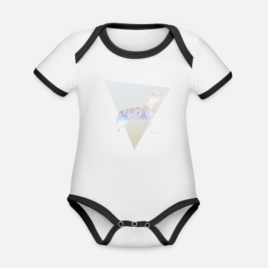 Wolves wolve - Organic Baby Contrasting Bodysuit