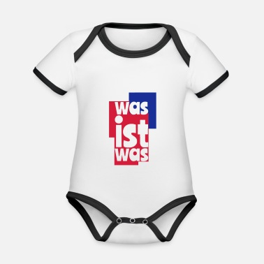 What what's what - Organic Contrast Baby Bodysuit