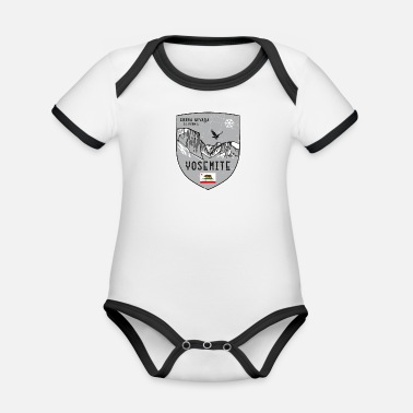 Helped Dome Yosemite USA coat of arms - Organic Contrast Baby Bodysuit