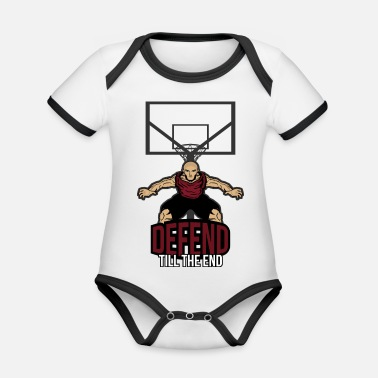 Defensiv Basket defensiv - Ekologisk kontrastfärgad babybody