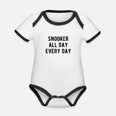 Target POOL / BILLIARDS : Snooker all day - Baby Bio Kurzarmbody zweifarbig