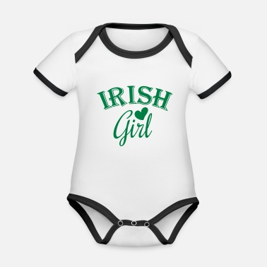 Irish Girls irish girl - Organic Contrast Baby Bodysuit