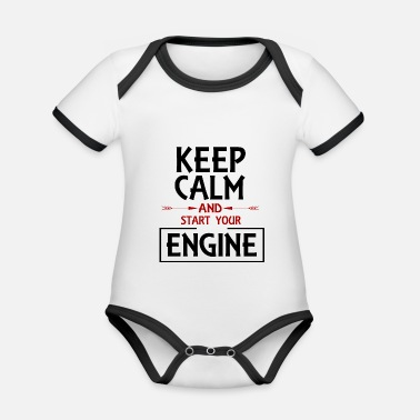 Driver driver - Organic Contrast Baby Bodysuit
