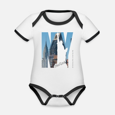 Statue Of Liberty Chrysler Building German Consulate Lady Liberty - Organic Contrast Baby Bodysuit