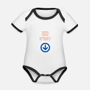 here it is - Organic Contrast Baby Bodysuit