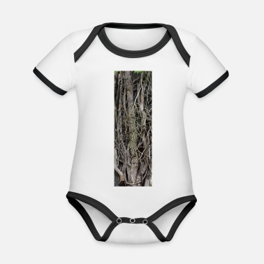 Root roots - Organic Contrast Baby Bodysuit