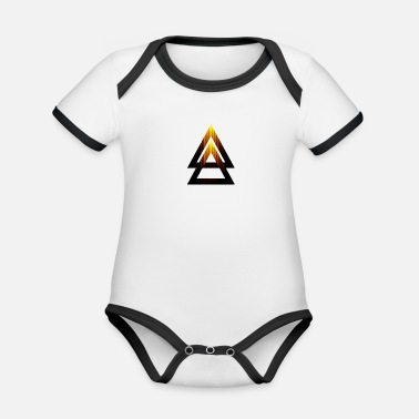 Abstract Abstract Triangle - Organic Contrast Baby Bodysuit