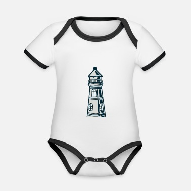 Crook Lighthouse crooked - Organic Contrast Baby Bodysuit