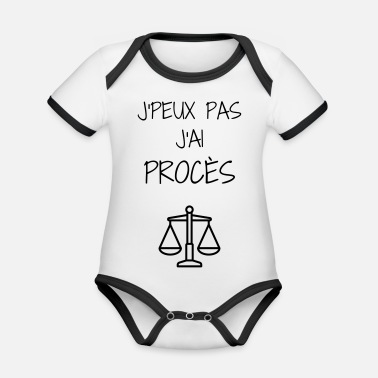 Lawyer Avocat Anwalt Barrister Justice Law - Organic Baby Contrasting Bodysuit