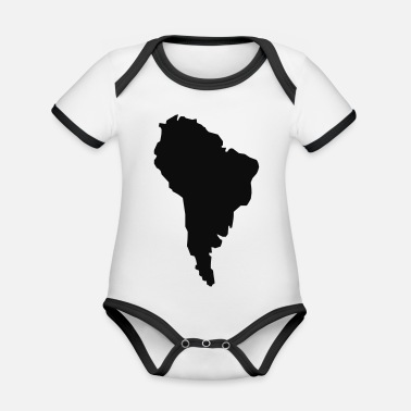 South America South America - Organic Contrast Baby Bodysuit