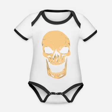Aggressive Skeleton Aggressive - Organic Baby Contrasting Bodysuit