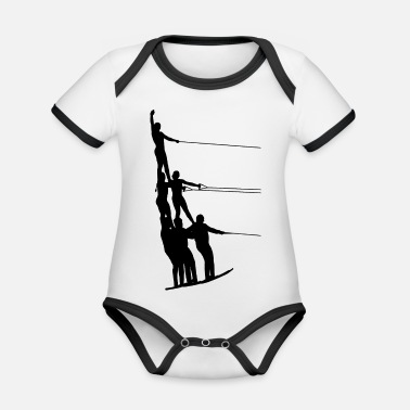 Water Sports Water skiing water sports - Organic Baby Contrasting Bodysuit