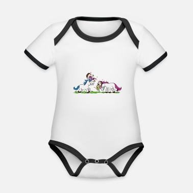 Brutal Unicorn Killer Brutal brutal unicorn violence magic pony massacre - Organic Contrast Baby Bodysuit