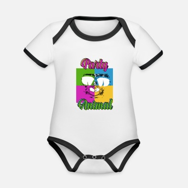 Clubbers Clubbers - Organic Contrast Baby Bodysuit