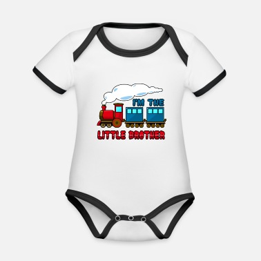 Brother I'm the little brother - Organic Contrast Baby Bodysuit