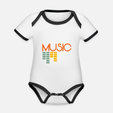 Addicted Music Addict music addict - Organic Contrast Baby Bodysuit