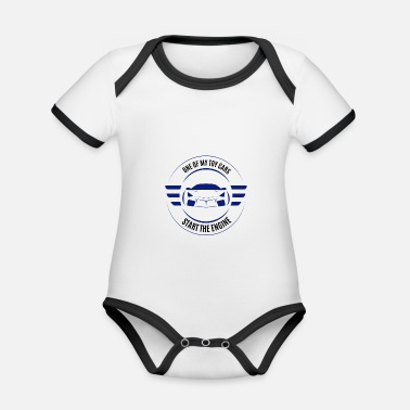 Start Start the Engine - Start the engine - Organic Contrast Baby Bodysuit