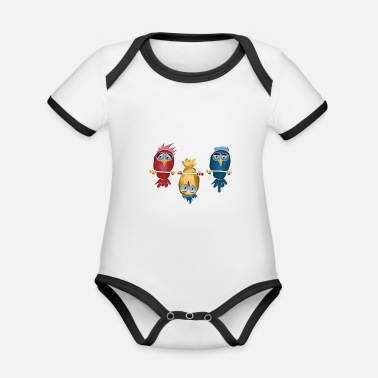 The Current Dad Be different Against the current LGBT bird gift - Organic Contrast Baby Bodysuit