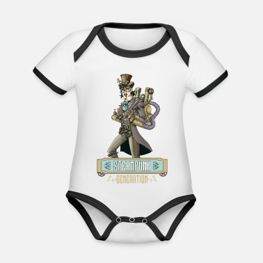 Vintage Collection V2 steampunk generation - Organic Contrast Baby Bodysuit