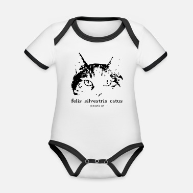 House cupboard - Domestic cat - Felis silvestris catus - Organic Contrast Baby Bodysuit