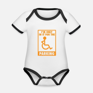 Car Parking Funny Sarcasm Street Parking - Organic Contrast Baby Bodysuit