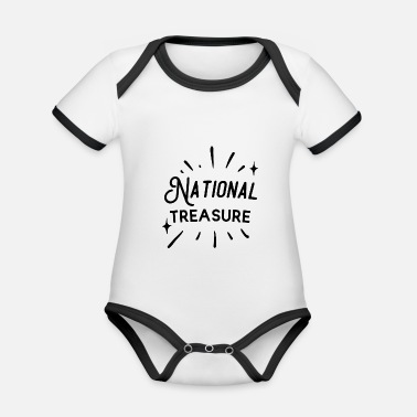 National National Treasure - Baby Bio Kurzarmbody zweifarbig