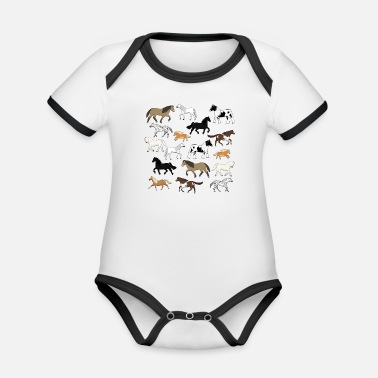 Messed Up Horses are messed up - Organic Contrast Baby Bodysuit