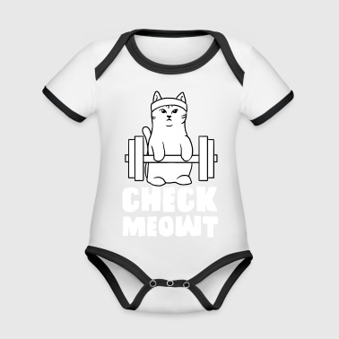 gym cat check me out meowt fit - Baby Bio-Kurzarm-Kontrastbody