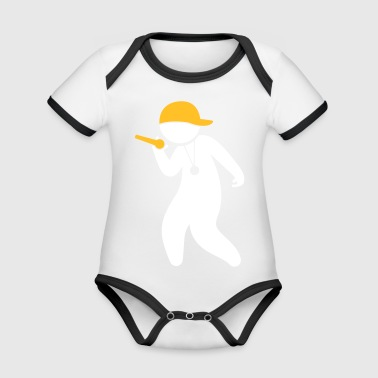 Hiphop Rapper - Organic Baby Contrasting Bodysuit