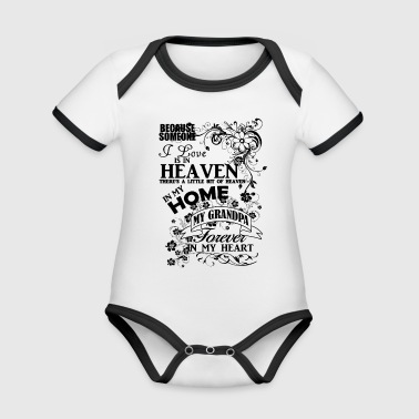 heaven in my home black - Organic Baby Contrasting Bodysuit
