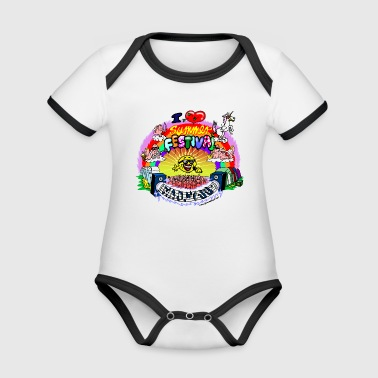 I LOVE summer festival madness - Organic Baby Contrasting Bodysuit